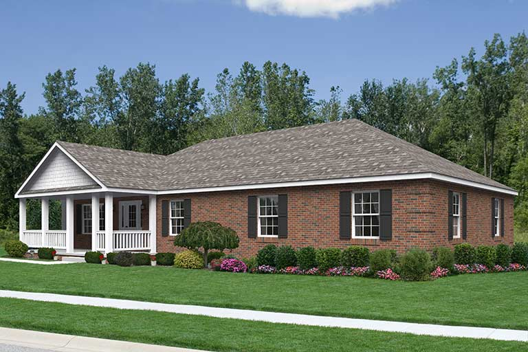Ecoranch smithtown modular new home model for Custom ranch homes