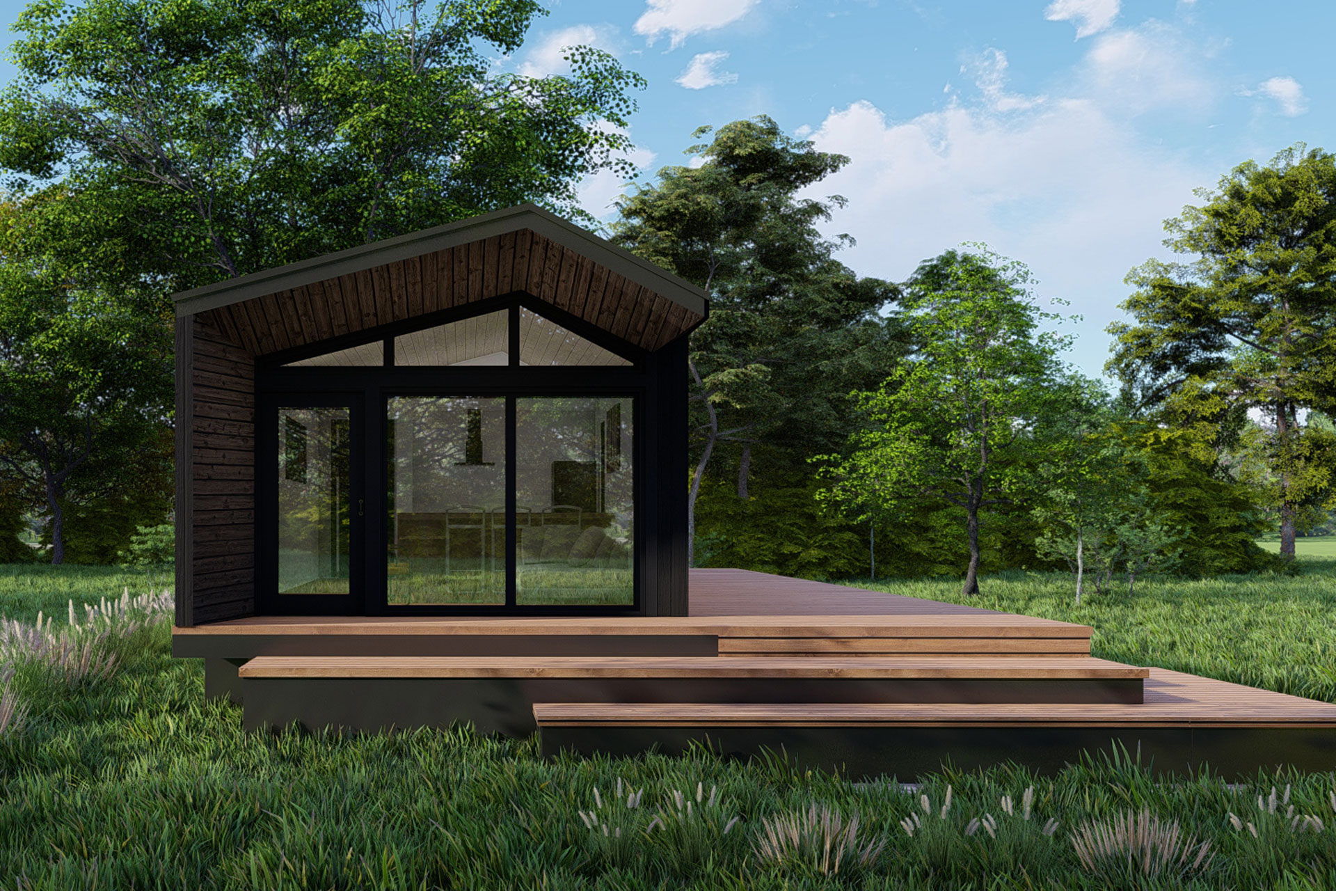 EcoTiny Modern Luxury Modular New Home Construction Tiny House