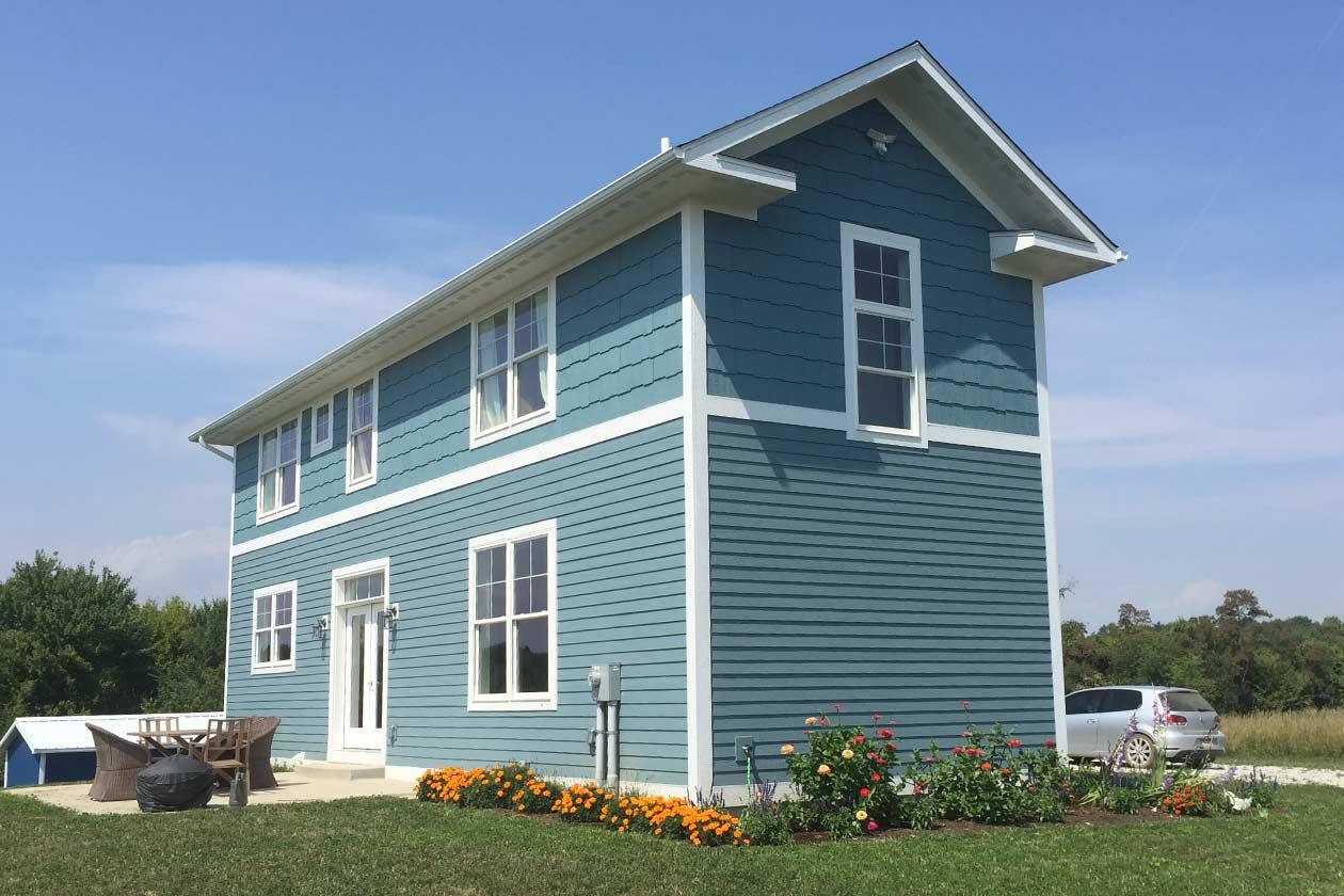 Custom home construction urban lot high efficiency home for High efficiency house plans