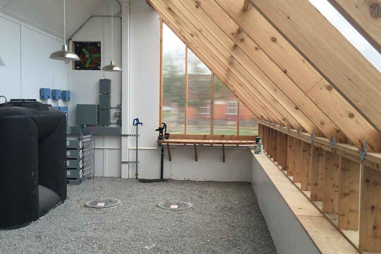 Interior - Off Grid Solar Powered Greenhouse in Homewood